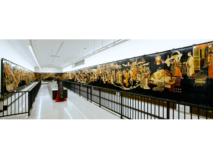 大型彩石象嵌屏風「楊貴妃物語」