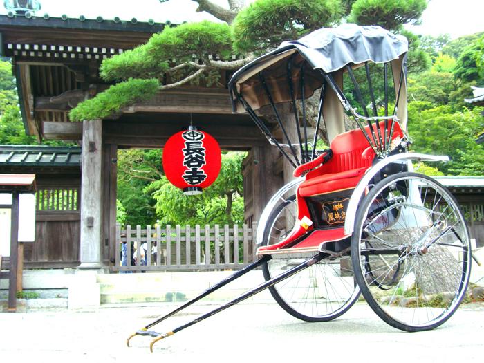 風雅な古都・鎌倉を縦横無尽に巡る人力車