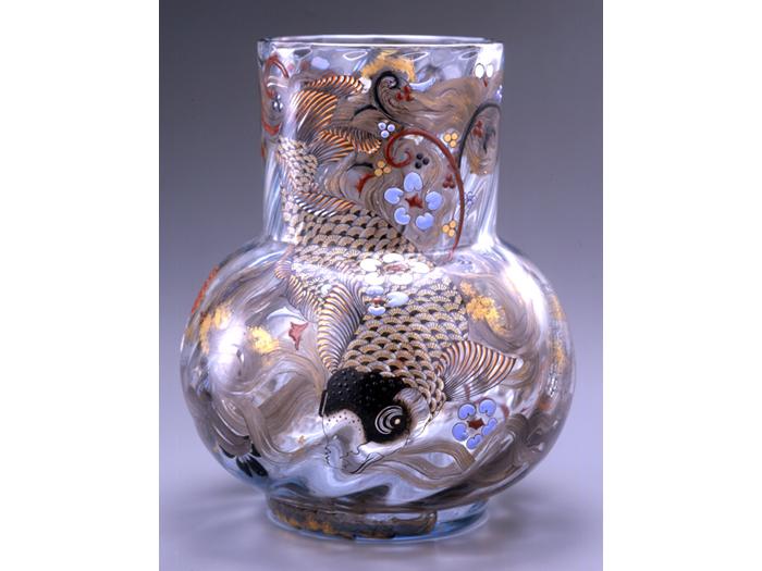 エミール・ガレ作「鯉魚文花瓶」
