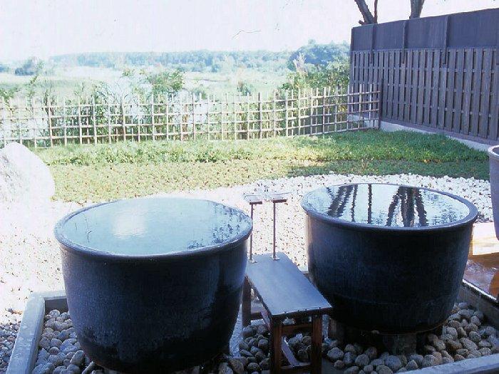 壺風呂でプライベート気分を満喫
