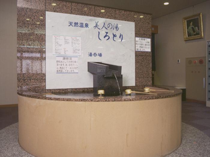 温泉の入口中央にある飲用泉