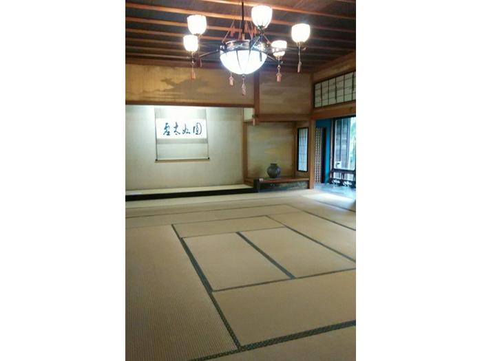 桧(尾州)造りの座敷、書院主室
