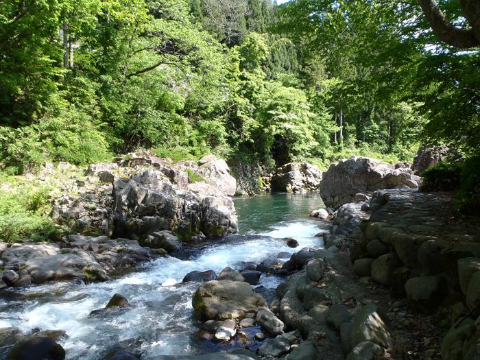 長良川の渓流