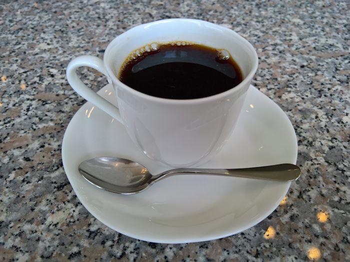 コーヒーでくつろいで…