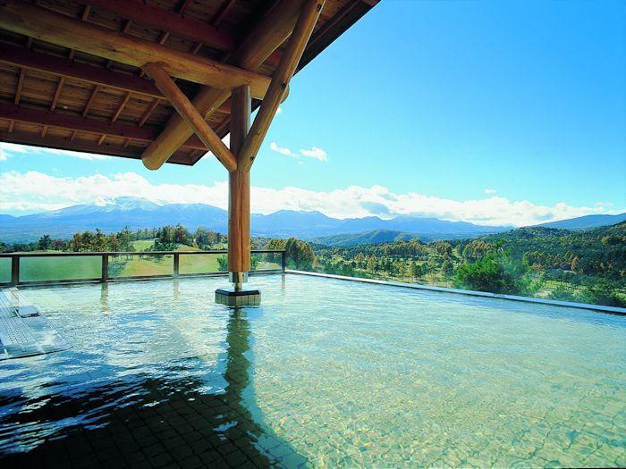 屋根付き露天風呂