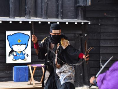 イベント時には忍者ショーを開催