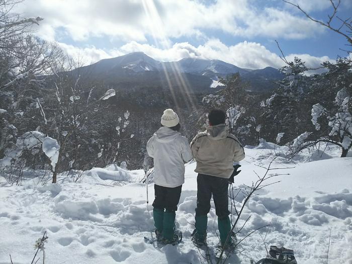天気がよいと目の前に磐梯山が!