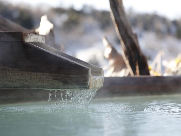 乳白色の天然温泉