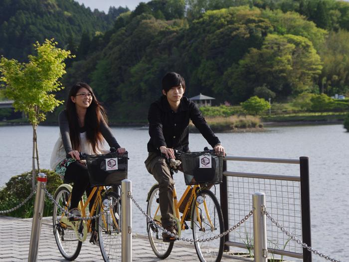 サイクリングで亀山湖巡りもできる