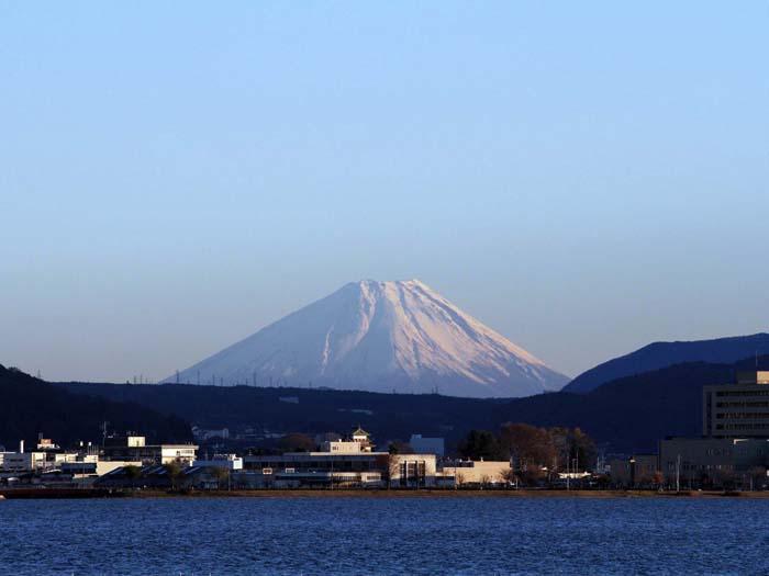 ハーモ美術館から望む富士山