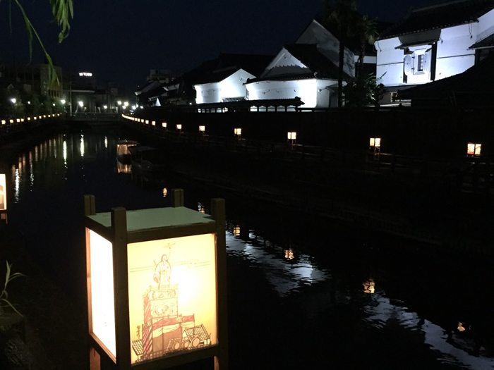 夜の江戸を彷彿される景色も必見