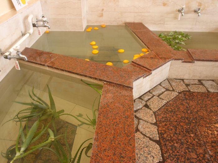 人気の日替わり風呂