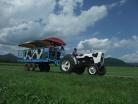 乳しぼり体験とトラクターで大草原周遊コース