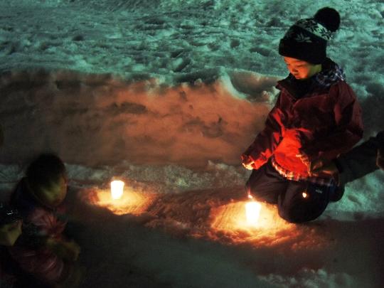 [終了]豪雪温泉で雪国体験~かまくらで『特製おしるこ』を食べよう~ [温泉/冬/春休み/雪遊び/かまくら/親子体験/宿泊プラン/おでかけ/募集型企画旅行/現地発着/2014年度]