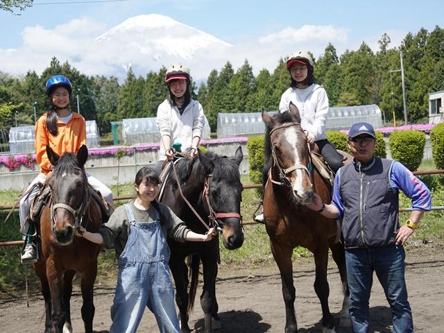 [旅いく販売終了]富士山の麓で大自然に囲まれての乗馬体験!≪午前中AM開催≫[現地発着/日帰り/静岡/旅いくセレクト]